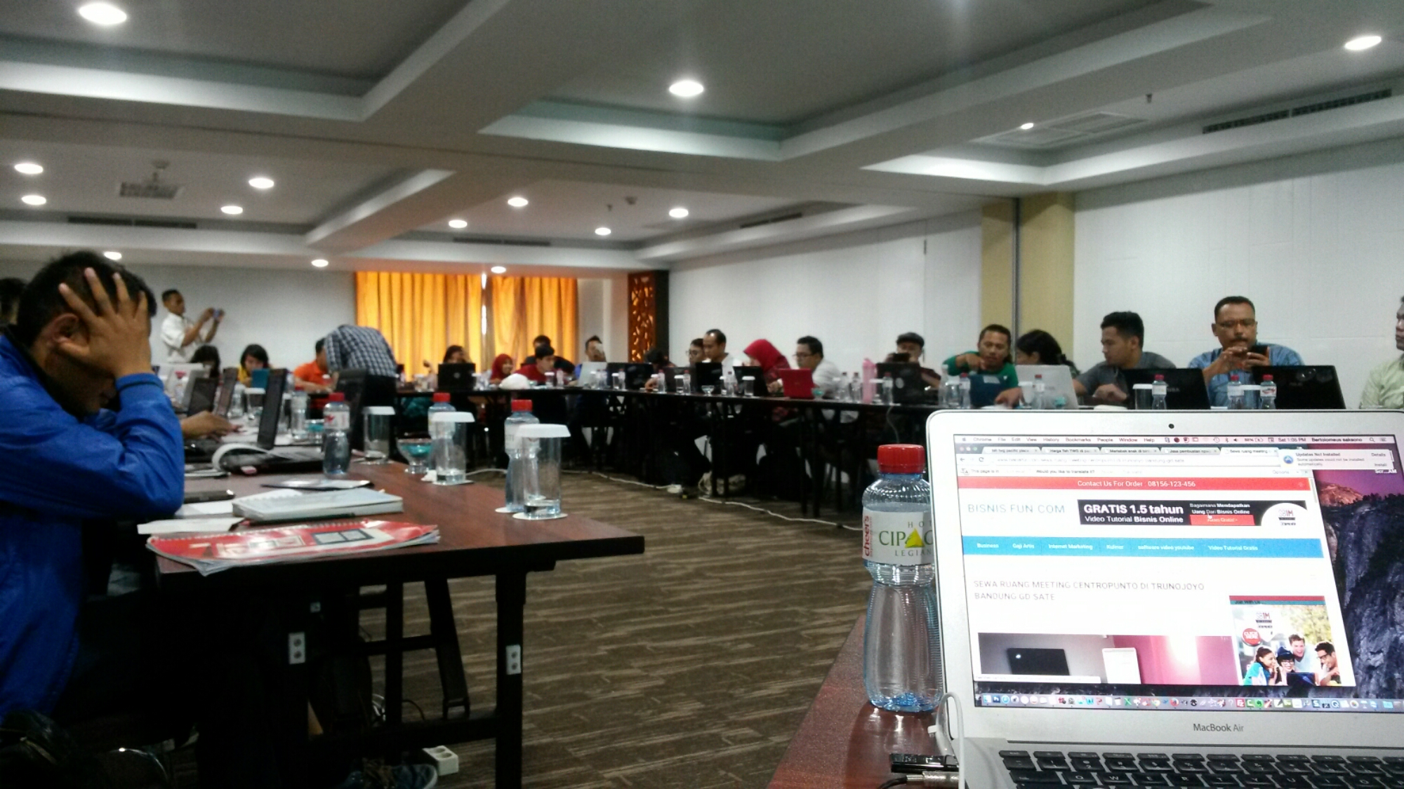Mini workshop intwrnet marketing bali hotel cipaganti